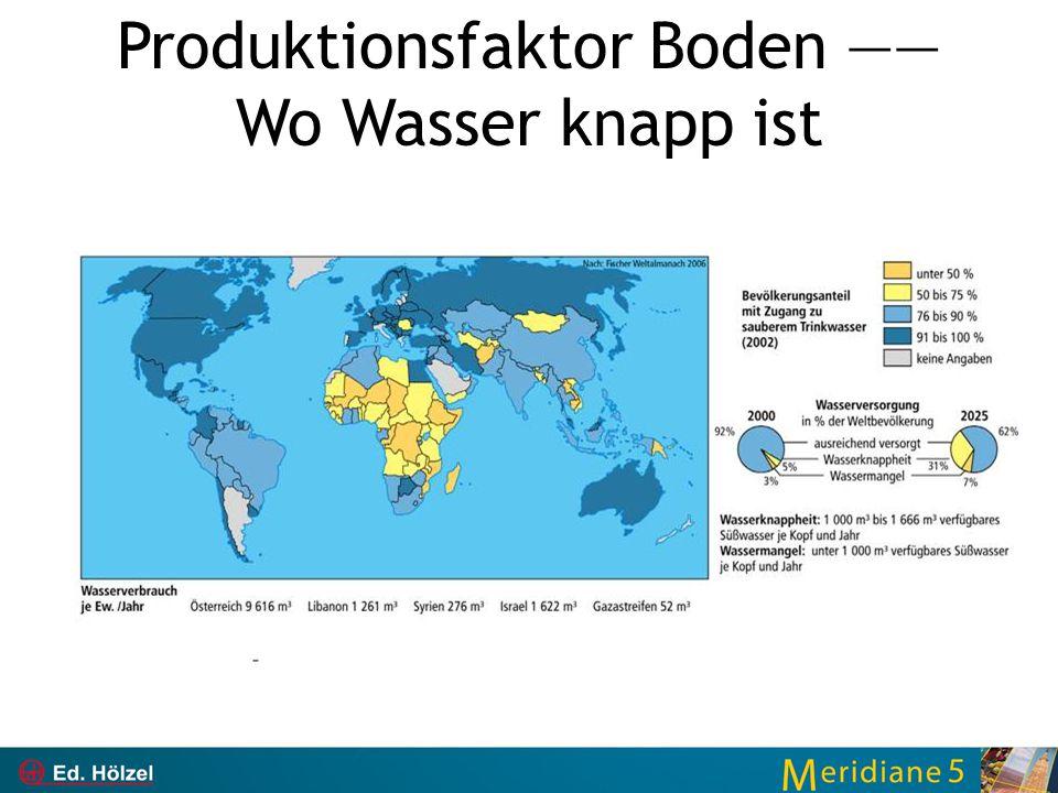 Produktionsfaktor Boden —― Wo Wasser knapp ist