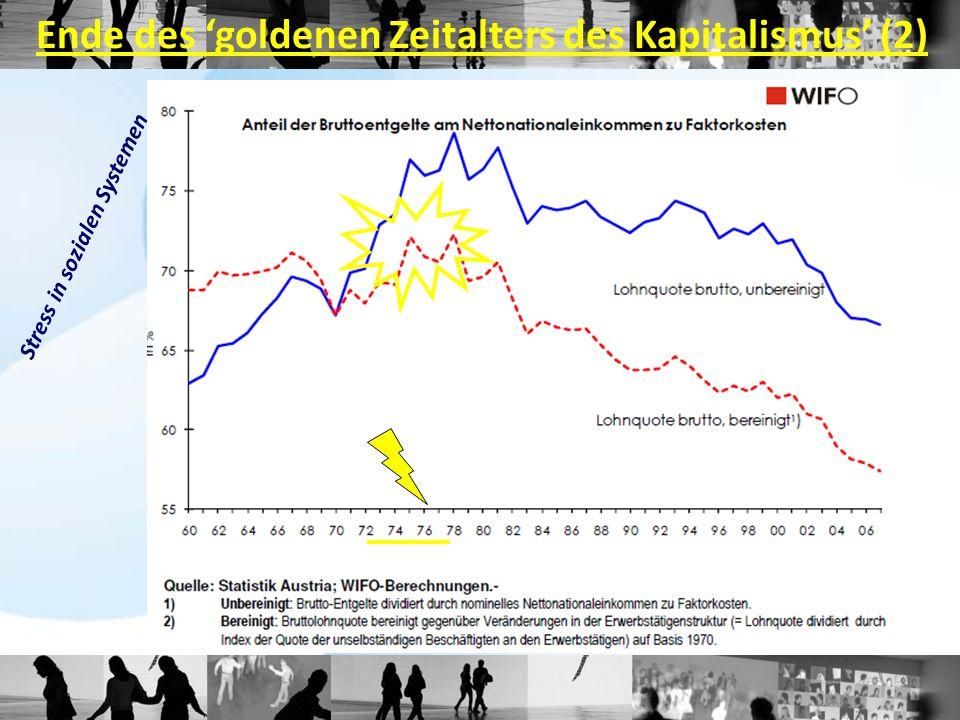 Ende des 'goldenen Zeitalters des Kapitalismus' (2) Stress in sozialen Systemen