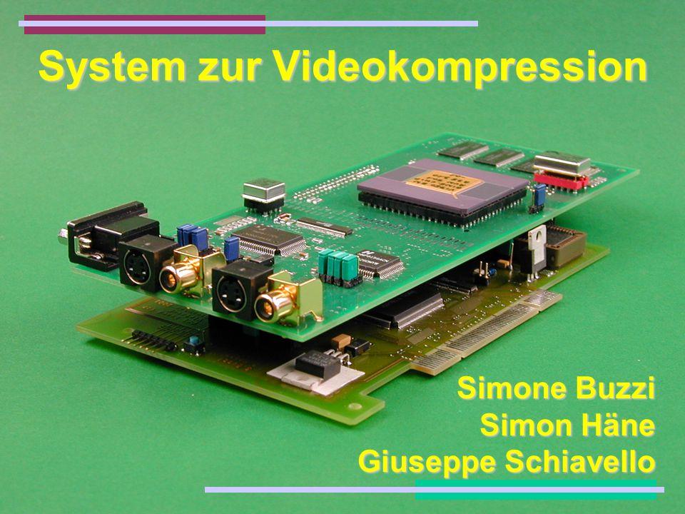 System zur Videokompression Simone Buzzi Simon Häne Giuseppe Schiavello