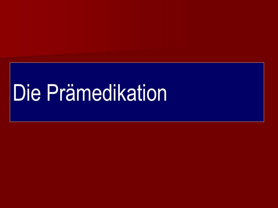 Die Prämedikation