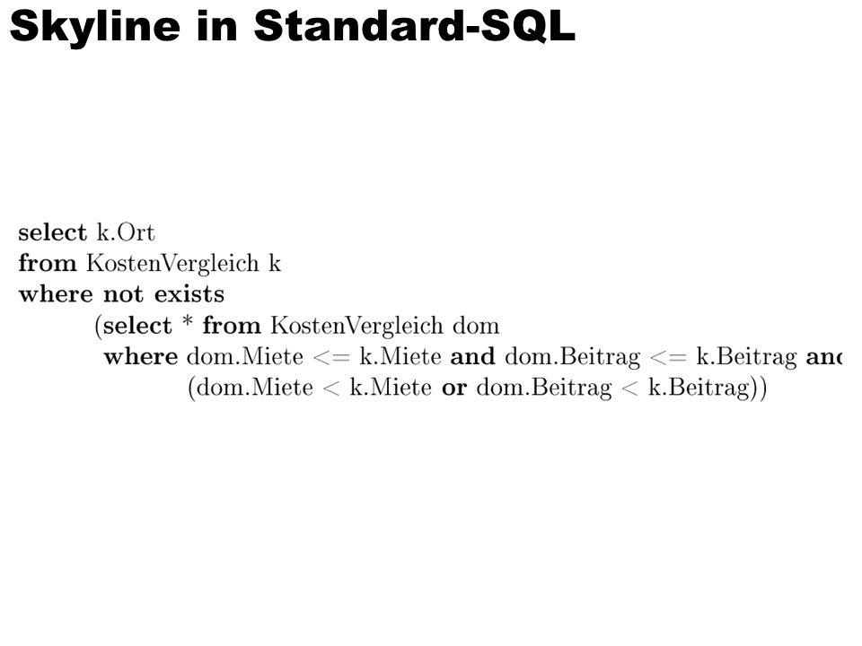 Skyline in Standard-SQL