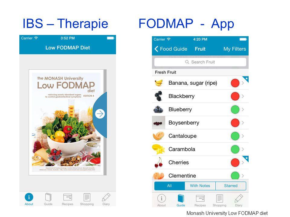 IBS – TherapieFODMAP - App Monash University Low FODMAP diet