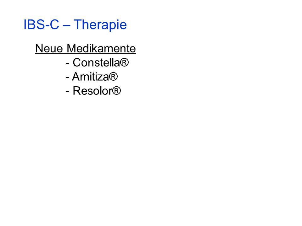 IBS-C – Therapie Neue Medikamente - Constella® - Amitiza® - Resolor®