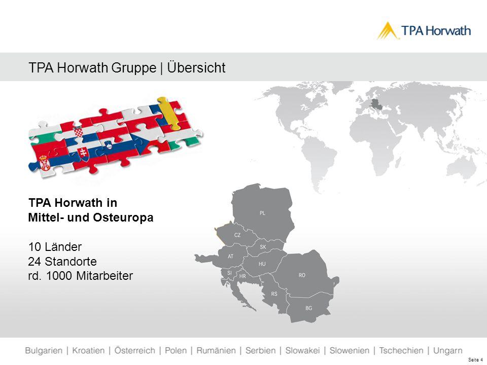 TPA Horwath Gruppe | Übersicht TPA Horwath in Mittel- und Osteuropa 10 Länder 24 Standorte rd.