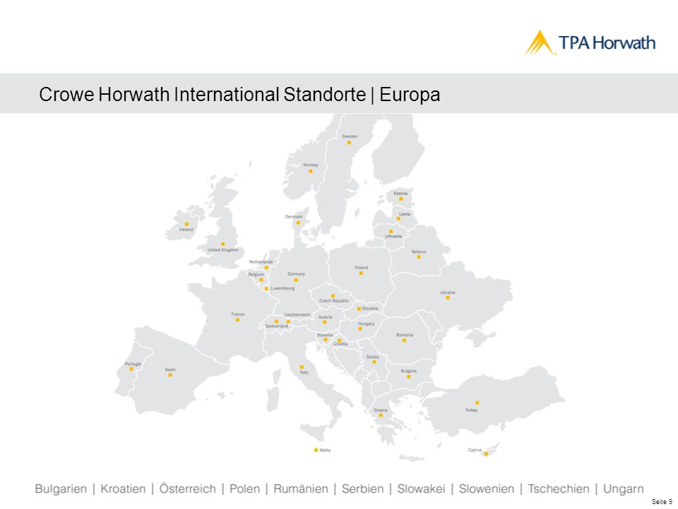 Crowe Horwath International Standorte | Europa Seite 9
