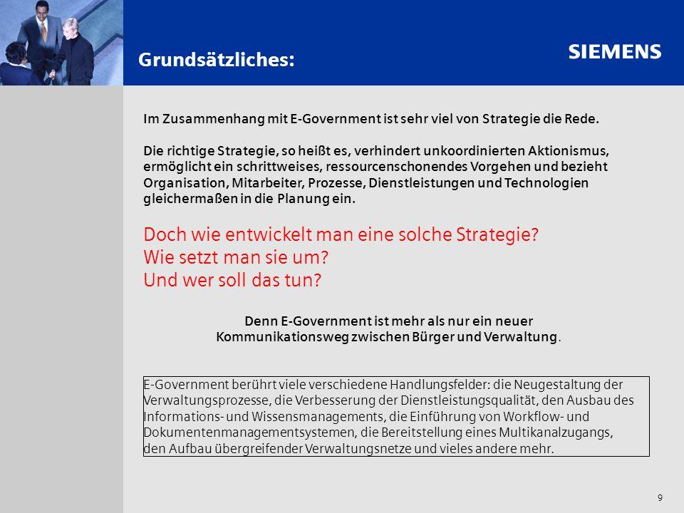 s 9 Grundsätzliches: Im Zusammenhang mit E-Government ist sehr viel von Strategie die Rede. Die richtige Strategie, so heißt es, verhindert unkoordini