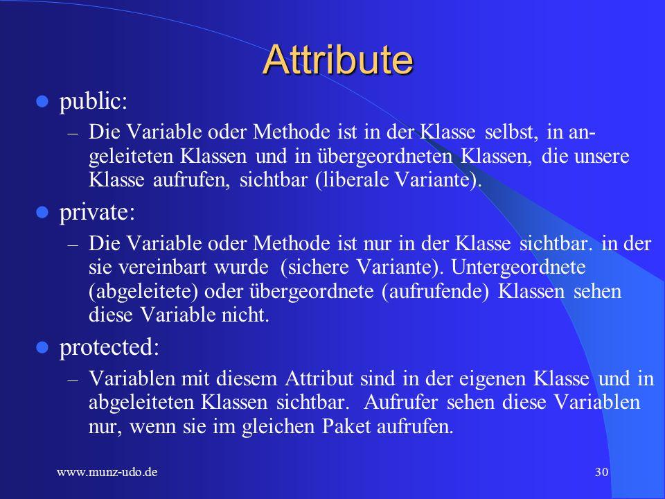 www.munz-udo.de29 Schüler SchülerName Durchschnittsnote schriftliche Note mündliche Note bestanden.....................................