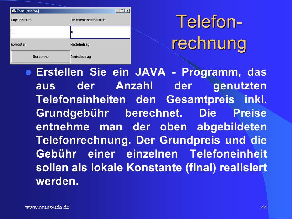 www.munz-udo.de43 Auerbacher Telekom Ihre Rechnung Rechnungsdatum27.1.02 RechnungsmonatJanuar 2002 Kundennummer1234567890 Munz Udo Blauenstr.