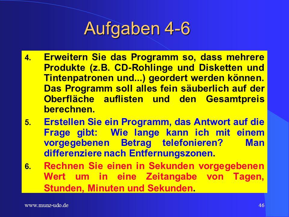 www.munz-udo.de45 Aufgaben 1-3 1.