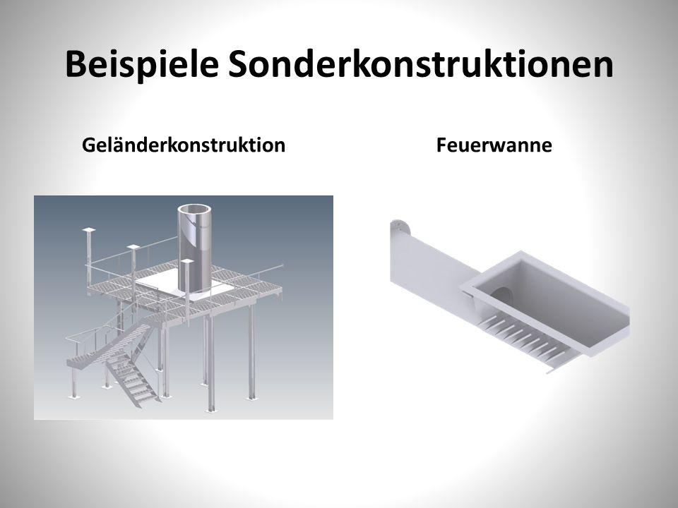 Beispiele Sonderkonstruktionen GeländerkonstruktionFeuerwanne
