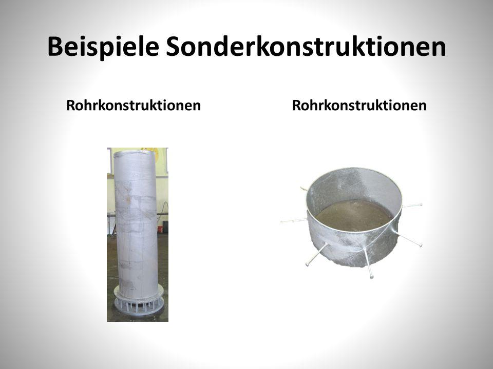 Beispiele Sonderkonstruktionen Rohrkonstruktionen