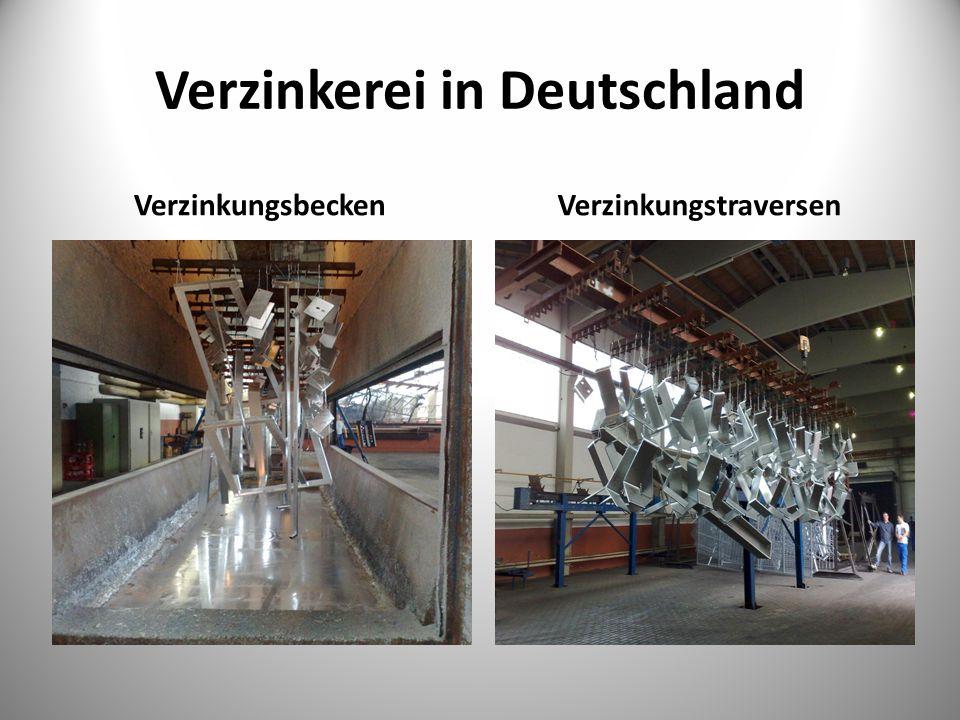 Verzinkerei in Deutschland VerzinkungsbeckenVerzinkungstraversen