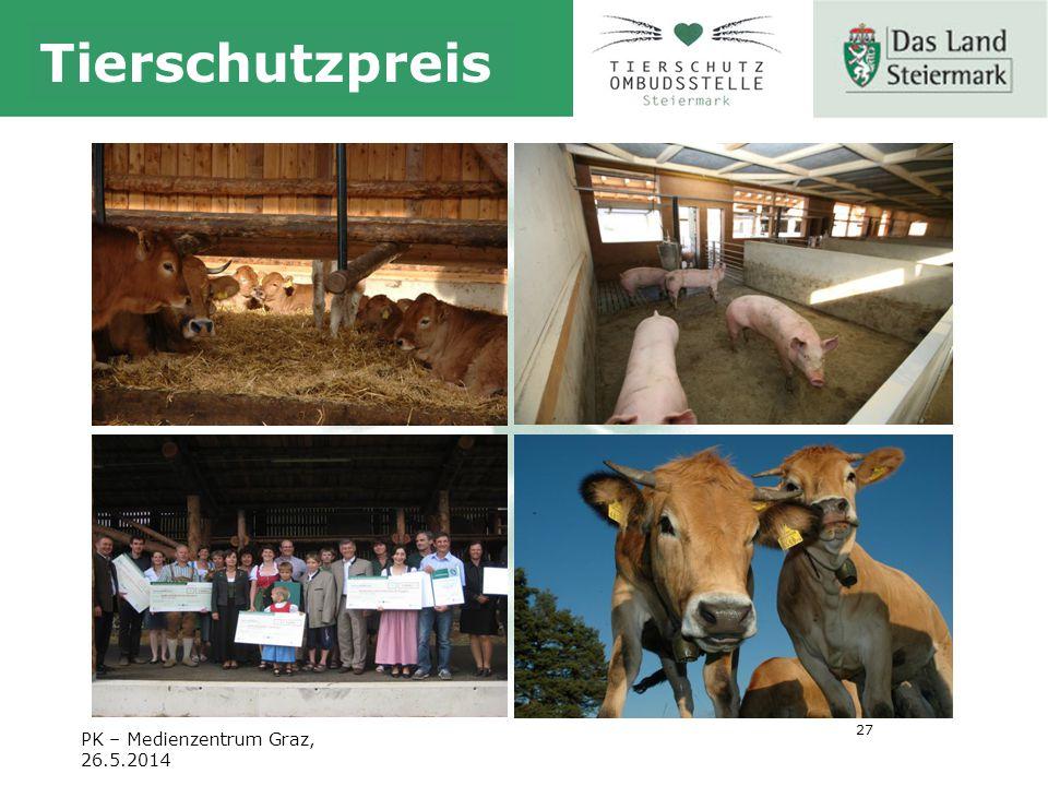 27 Tierschutzpreis PK – Medienzentrum Graz, 26.5.2014
