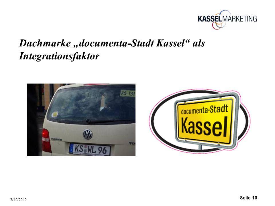 """Seite 10 Dachmarke """"documenta-Stadt Kassel als Integrationsfaktor 7/10/2010"""