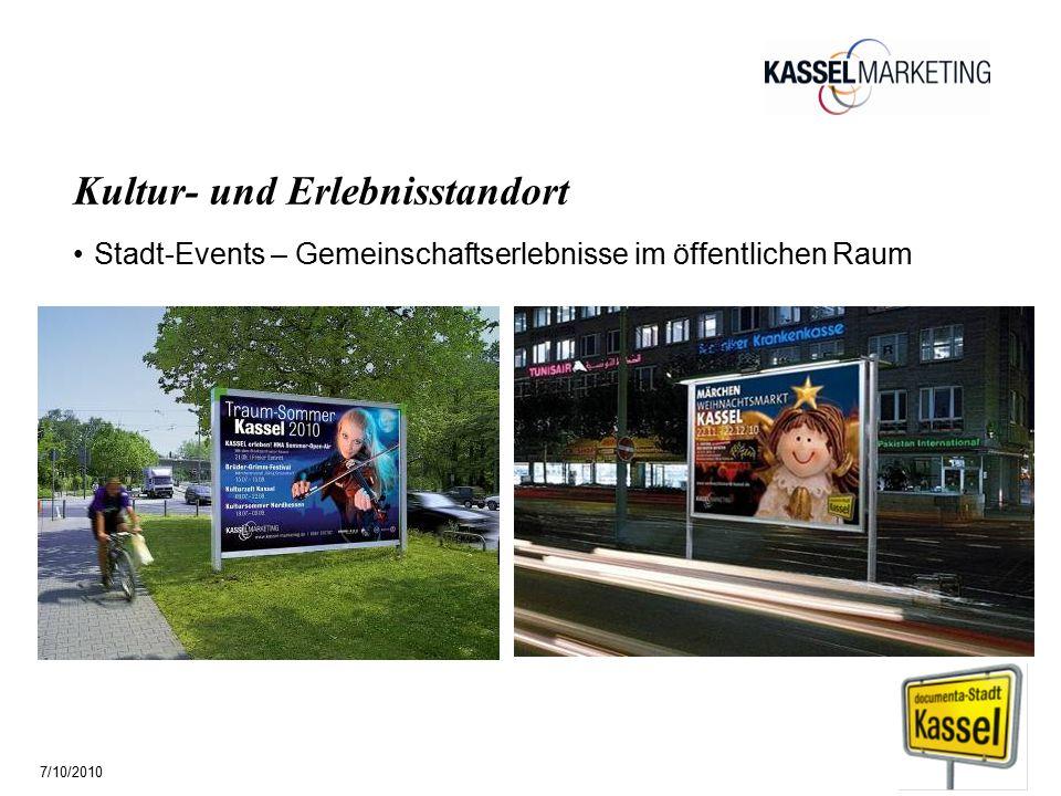 Seite 15 Kultur- und Erlebnisstandort Stadt-Events – Gemeinschaftserlebnisse im öffentlichen Raum 7/10/2010