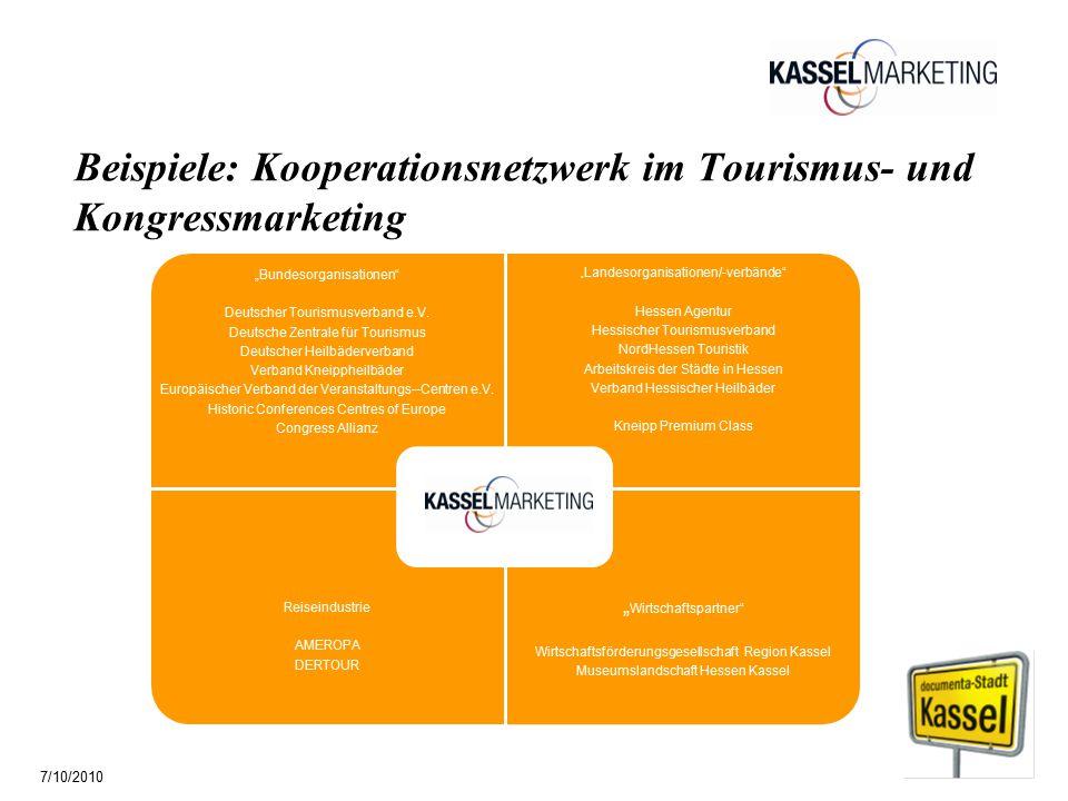 """Seite 5 Beispiele: Kooperationsnetzwerk im Tourismus- und Kongressmarketing """"Bundesorganisationen Deutscher Tourismusverband e.V."""