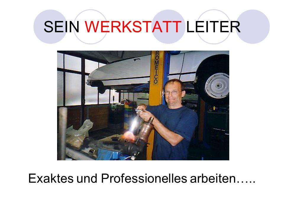 SEIN WERKSTATT LEITER Exaktes und Professionelles arbeiten…..