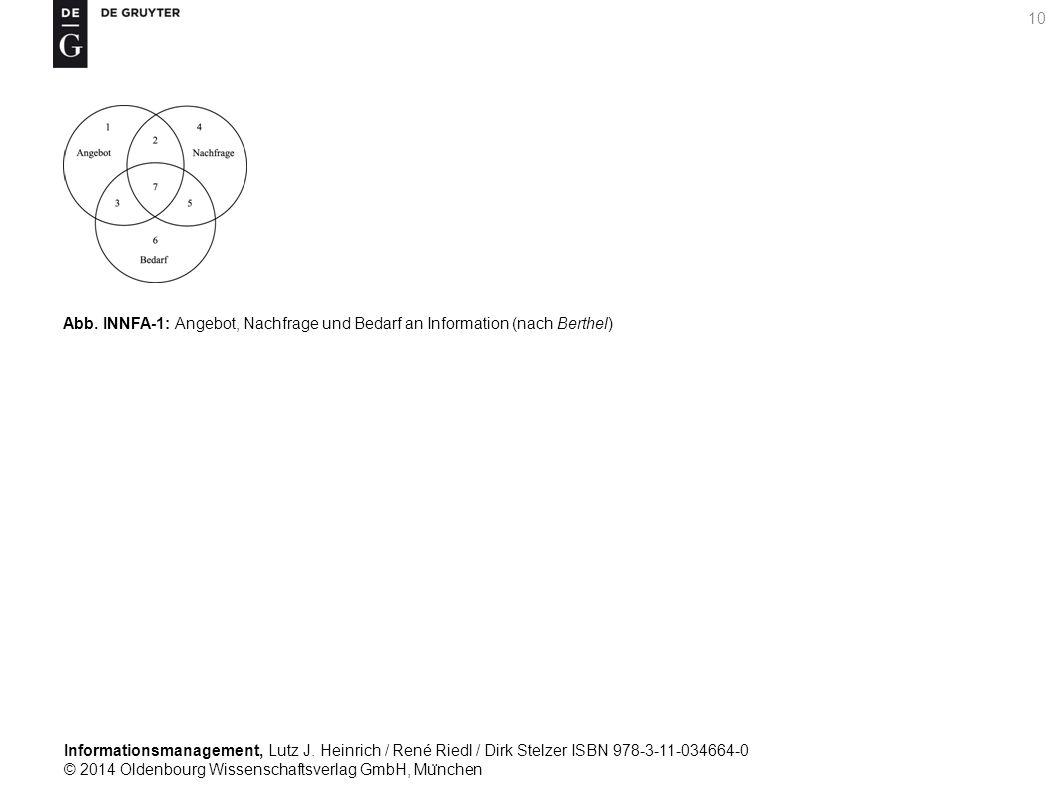 Informationsmanagement, Lutz J. Heinrich / René Riedl / Dirk Stelzer ISBN 978-3-11-034664-0 © 2014 Oldenbourg Wissenschaftsverlag GmbH, Mu ̈ nchen 10
