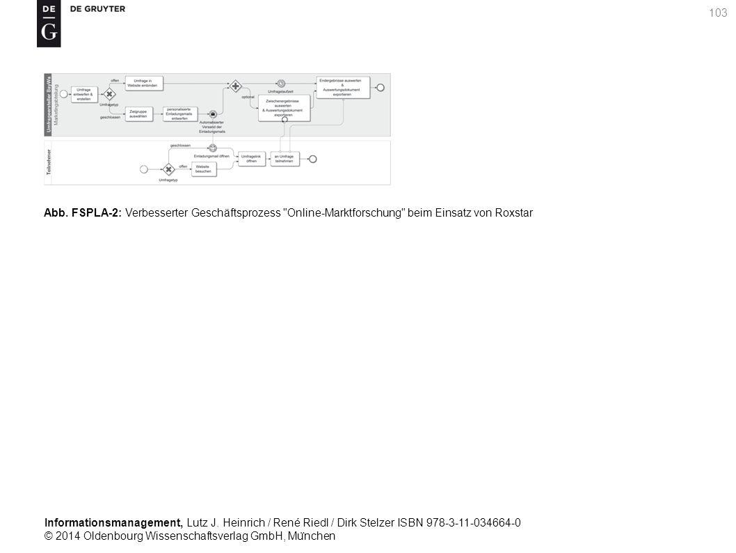 Informationsmanagement, Lutz J. Heinrich / René Riedl / Dirk Stelzer ISBN 978-3-11-034664-0 © 2014 Oldenbourg Wissenschaftsverlag GmbH, Mu ̈ nchen 103