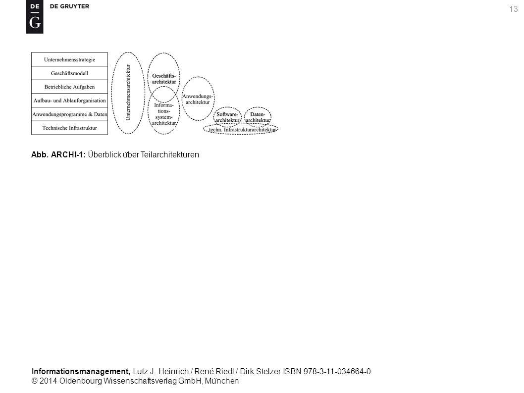 Informationsmanagement, Lutz J. Heinrich / René Riedl / Dirk Stelzer ISBN 978-3-11-034664-0 © 2014 Oldenbourg Wissenschaftsverlag GmbH, Mu ̈ nchen 13