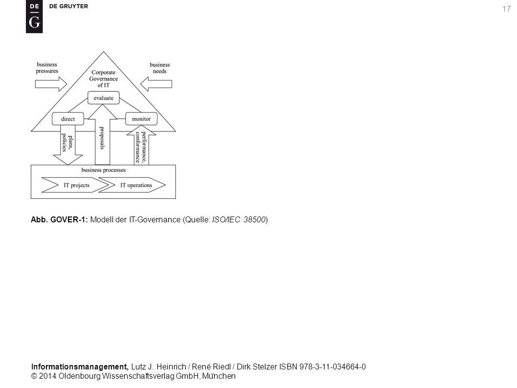 Informationsmanagement, Lutz J. Heinrich / René Riedl / Dirk Stelzer ISBN 978-3-11-034664-0 © 2014 Oldenbourg Wissenschaftsverlag GmbH, Mu ̈ nchen 17