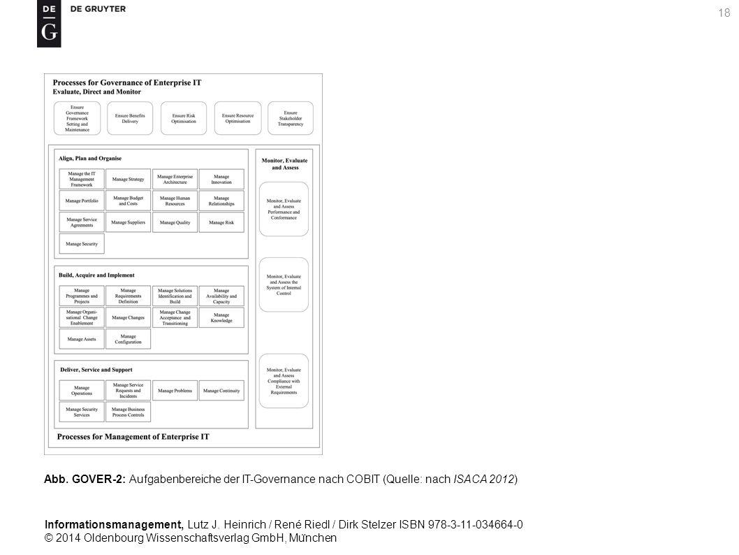Informationsmanagement, Lutz J. Heinrich / René Riedl / Dirk Stelzer ISBN 978-3-11-034664-0 © 2014 Oldenbourg Wissenschaftsverlag GmbH, Mu ̈ nchen 18