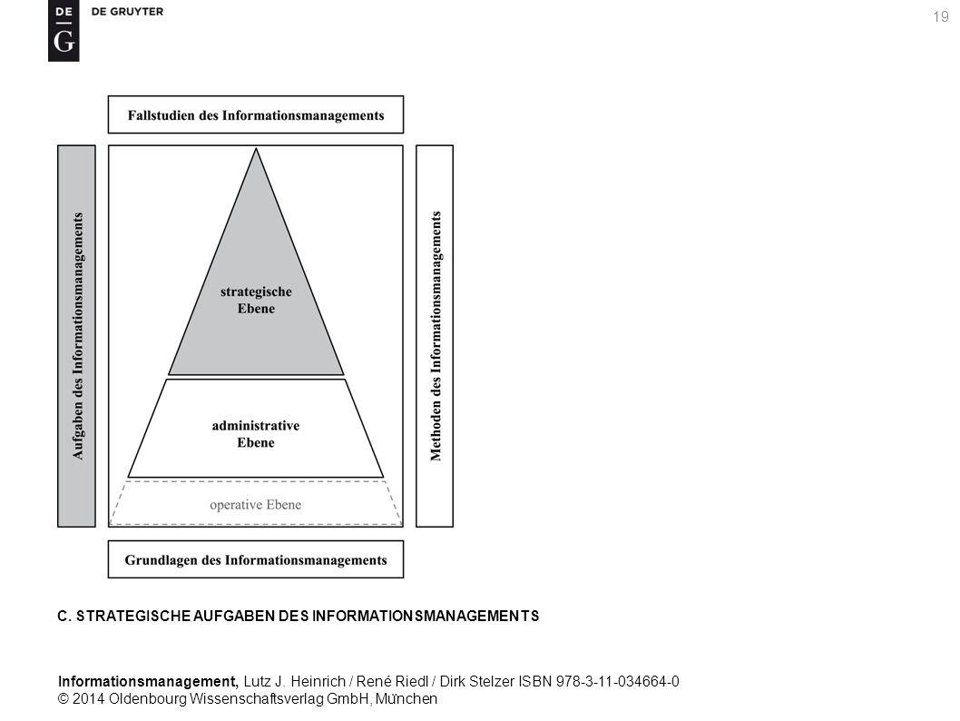 Informationsmanagement, Lutz J. Heinrich / René Riedl / Dirk Stelzer ISBN 978-3-11-034664-0 © 2014 Oldenbourg Wissenschaftsverlag GmbH, Mu ̈ nchen 19