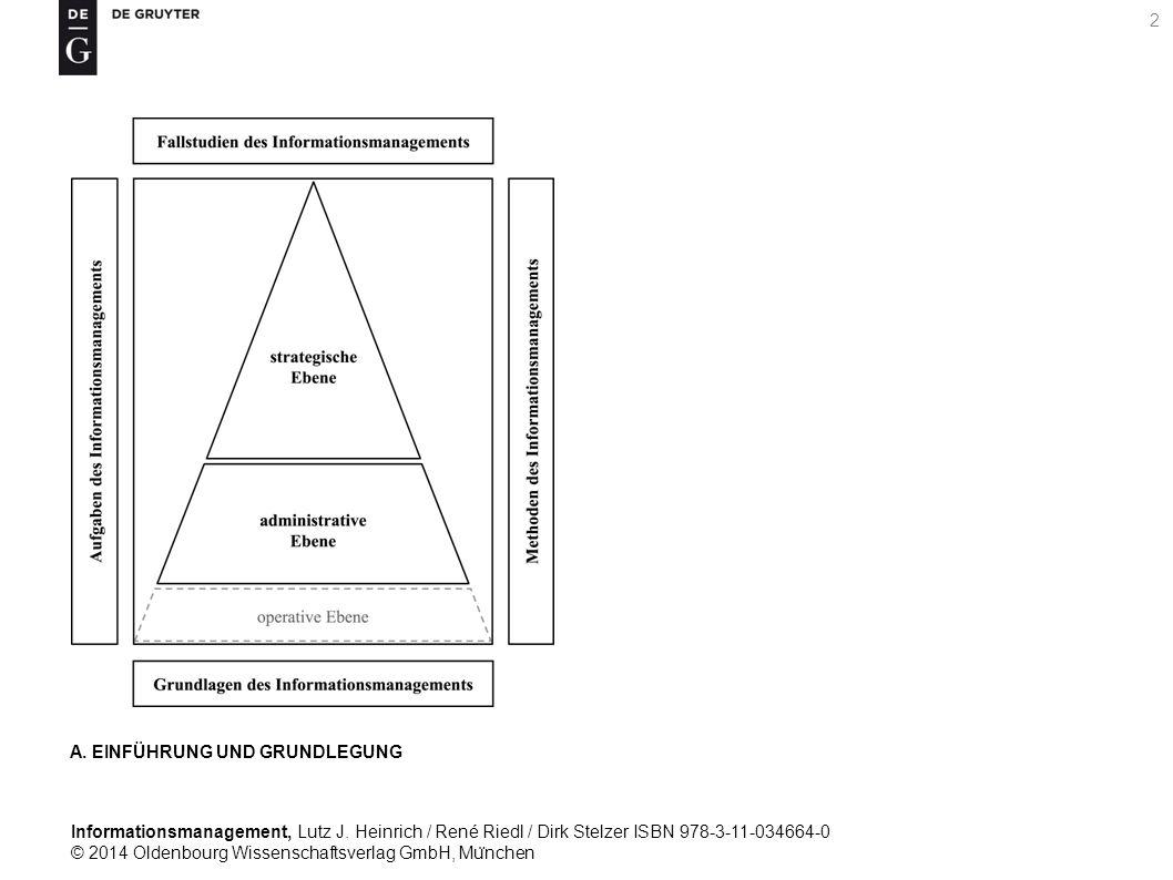Informationsmanagement, Lutz J. Heinrich / René Riedl / Dirk Stelzer ISBN 978-3-11-034664-0 © 2014 Oldenbourg Wissenschaftsverlag GmbH, Mu ̈ nchen 2 A