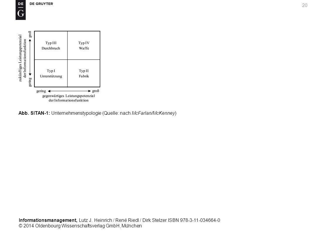 Informationsmanagement, Lutz J. Heinrich / René Riedl / Dirk Stelzer ISBN 978-3-11-034664-0 © 2014 Oldenbourg Wissenschaftsverlag GmbH, Mu ̈ nchen 20