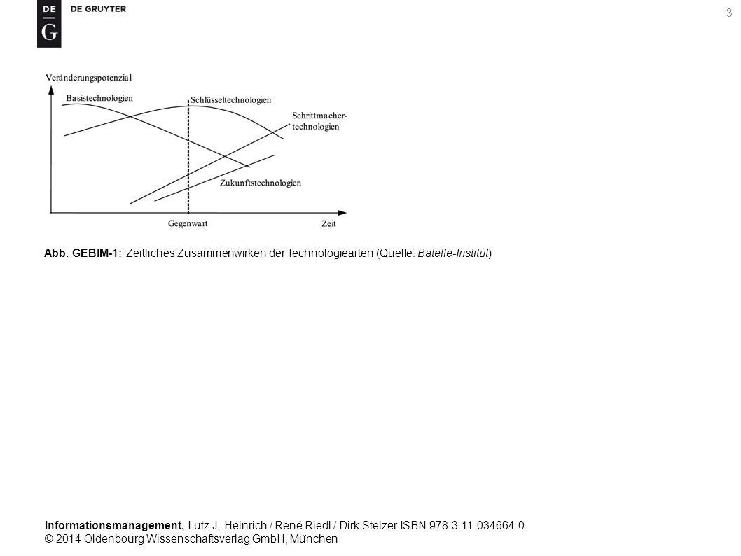 Informationsmanagement, Lutz J. Heinrich / René Riedl / Dirk Stelzer ISBN 978-3-11-034664-0 © 2014 Oldenbourg Wissenschaftsverlag GmbH, Mu ̈ nchen 3 A