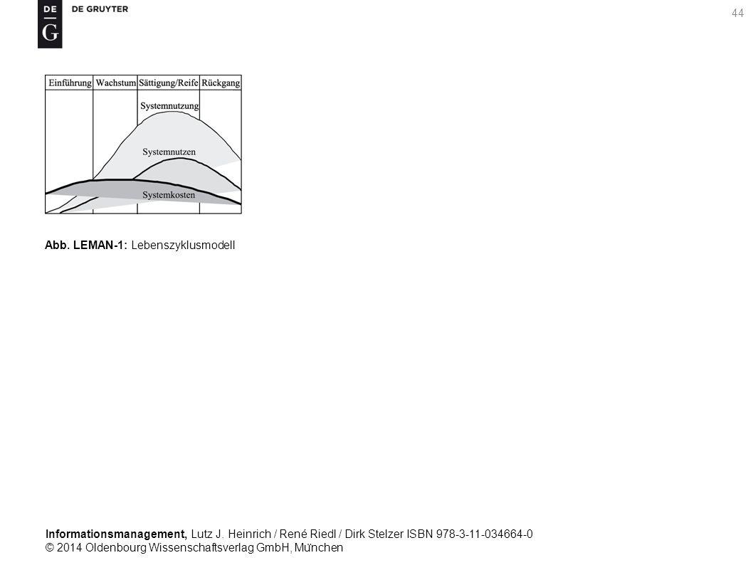 Informationsmanagement, Lutz J. Heinrich / René Riedl / Dirk Stelzer ISBN 978-3-11-034664-0 © 2014 Oldenbourg Wissenschaftsverlag GmbH, Mu ̈ nchen 44