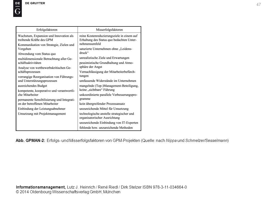 Informationsmanagement, Lutz J. Heinrich / René Riedl / Dirk Stelzer ISBN 978-3-11-034664-0 © 2014 Oldenbourg Wissenschaftsverlag GmbH, Mu ̈ nchen 47