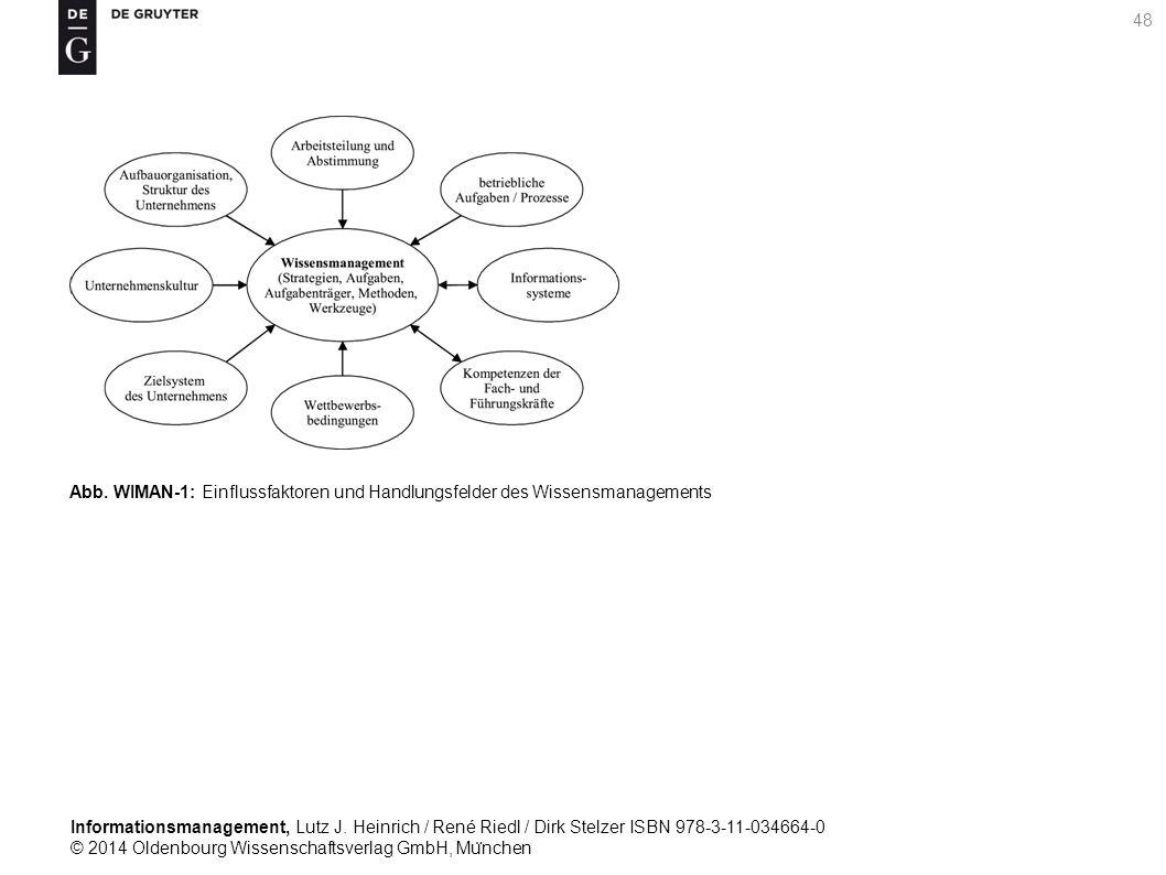 Informationsmanagement, Lutz J. Heinrich / René Riedl / Dirk Stelzer ISBN 978-3-11-034664-0 © 2014 Oldenbourg Wissenschaftsverlag GmbH, Mu ̈ nchen 48
