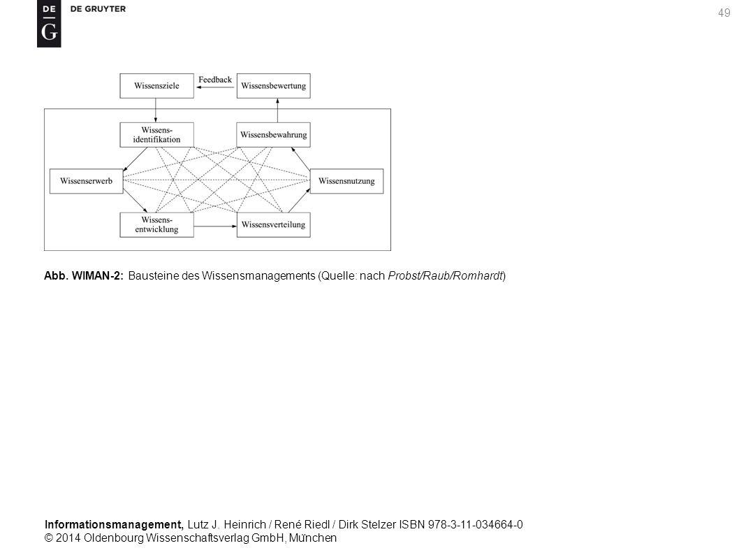 Informationsmanagement, Lutz J. Heinrich / René Riedl / Dirk Stelzer ISBN 978-3-11-034664-0 © 2014 Oldenbourg Wissenschaftsverlag GmbH, Mu ̈ nchen 49