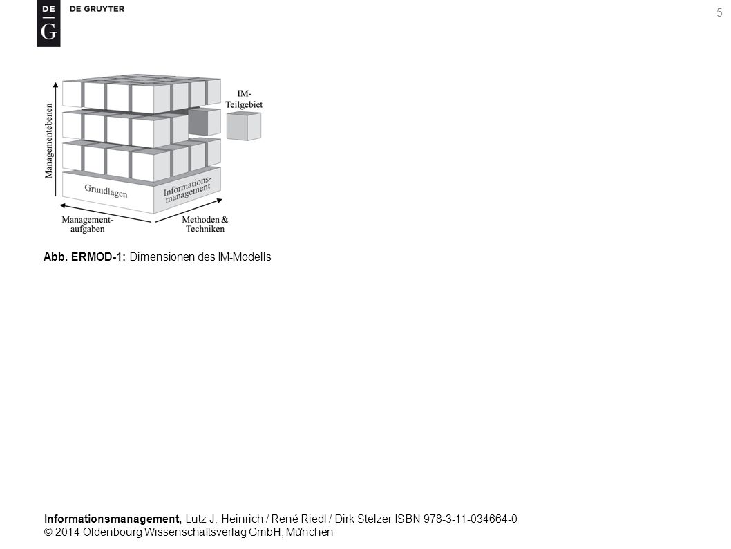 Informationsmanagement, Lutz J. Heinrich / René Riedl / Dirk Stelzer ISBN 978-3-11-034664-0 © 2014 Oldenbourg Wissenschaftsverlag GmbH, Mu ̈ nchen 5 A