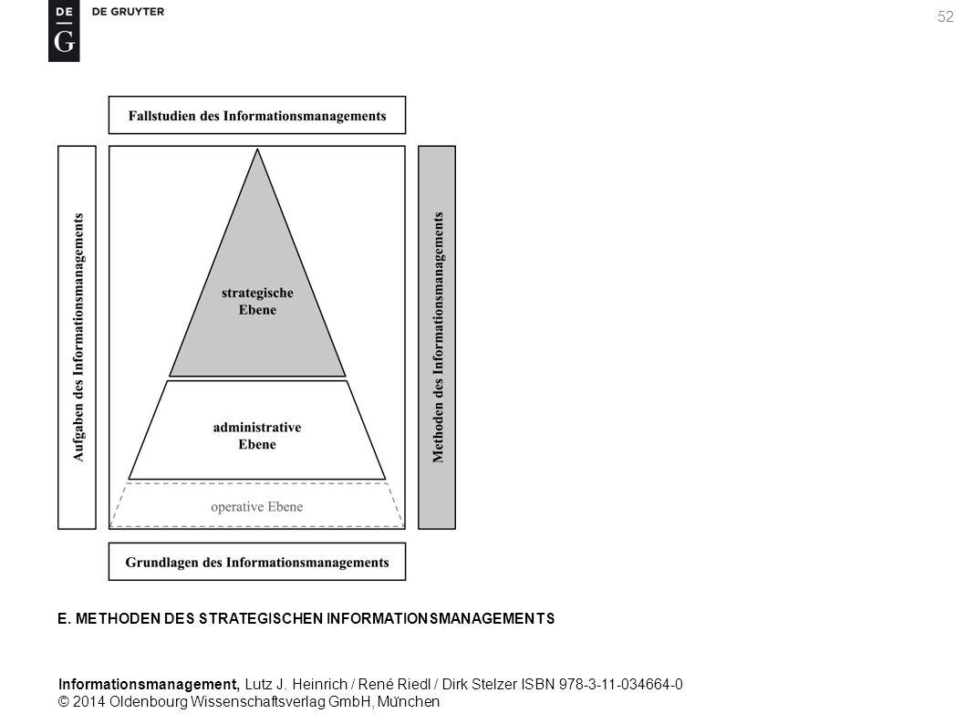 Informationsmanagement, Lutz J. Heinrich / René Riedl / Dirk Stelzer ISBN 978-3-11-034664-0 © 2014 Oldenbourg Wissenschaftsverlag GmbH, Mu ̈ nchen 52