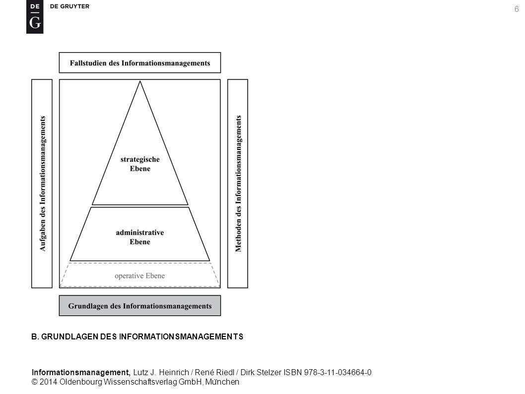 Informationsmanagement, Lutz J. Heinrich / René Riedl / Dirk Stelzer ISBN 978-3-11-034664-0 © 2014 Oldenbourg Wissenschaftsverlag GmbH, Mu ̈ nchen 6 B
