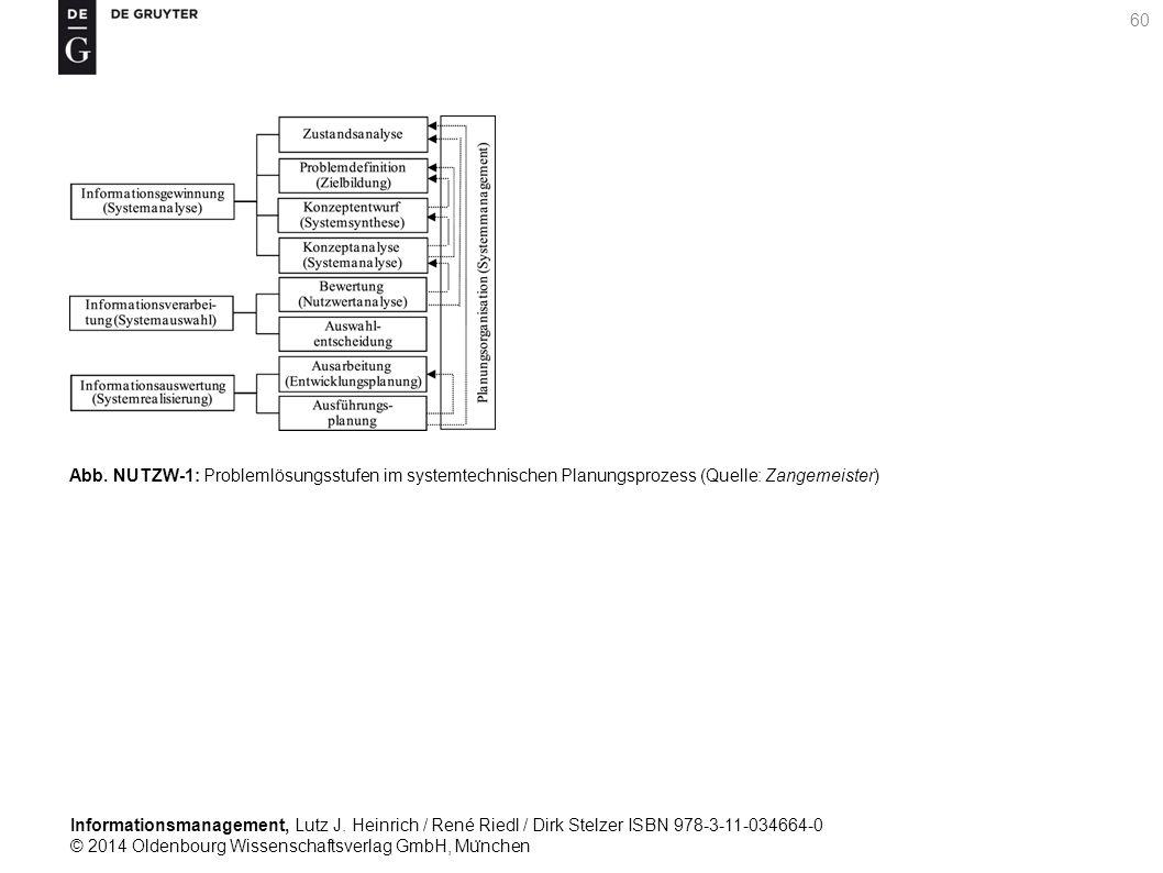 Informationsmanagement, Lutz J. Heinrich / René Riedl / Dirk Stelzer ISBN 978-3-11-034664-0 © 2014 Oldenbourg Wissenschaftsverlag GmbH, Mu ̈ nchen 60