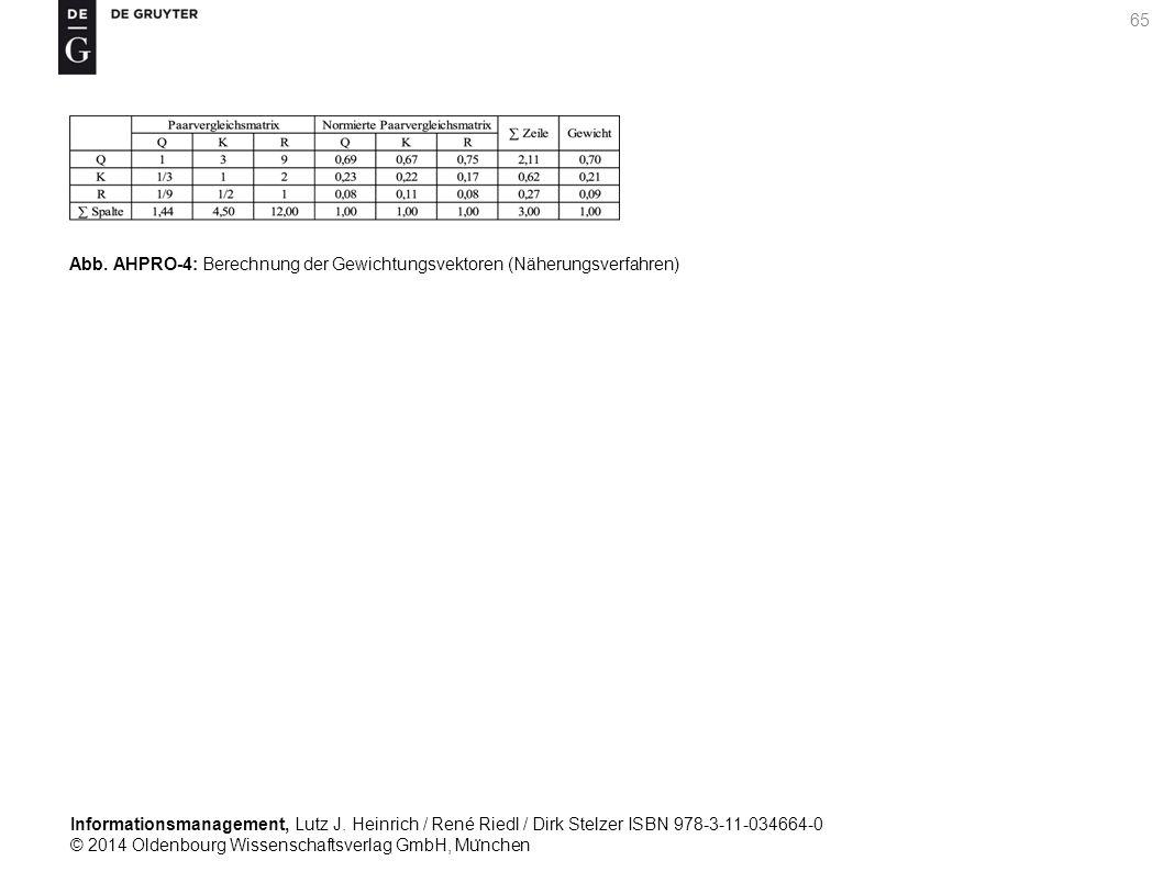 Informationsmanagement, Lutz J. Heinrich / René Riedl / Dirk Stelzer ISBN 978-3-11-034664-0 © 2014 Oldenbourg Wissenschaftsverlag GmbH, Mu ̈ nchen 65