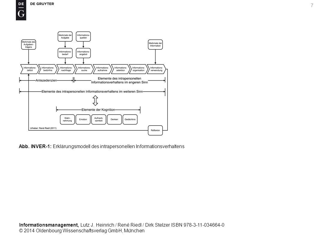 Informationsmanagement, Lutz J. Heinrich / René Riedl / Dirk Stelzer ISBN 978-3-11-034664-0 © 2014 Oldenbourg Wissenschaftsverlag GmbH, Mu ̈ nchen 7 A