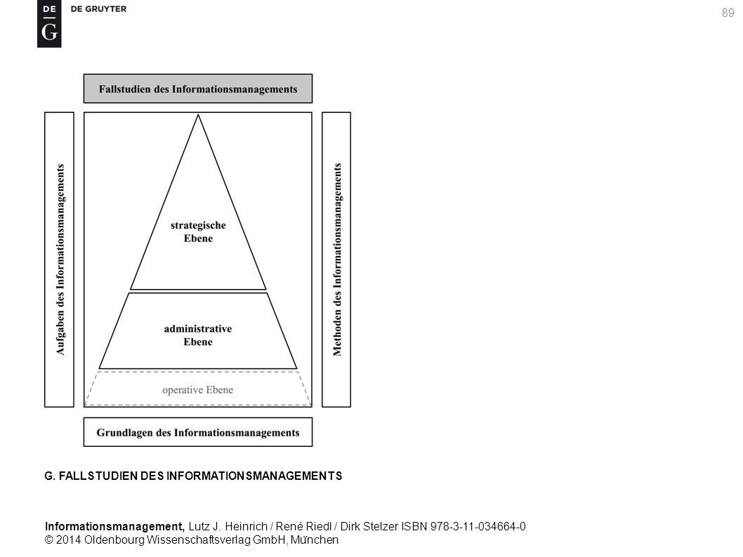 Informationsmanagement, Lutz J. Heinrich / René Riedl / Dirk Stelzer ISBN 978-3-11-034664-0 © 2014 Oldenbourg Wissenschaftsverlag GmbH, Mu ̈ nchen 89