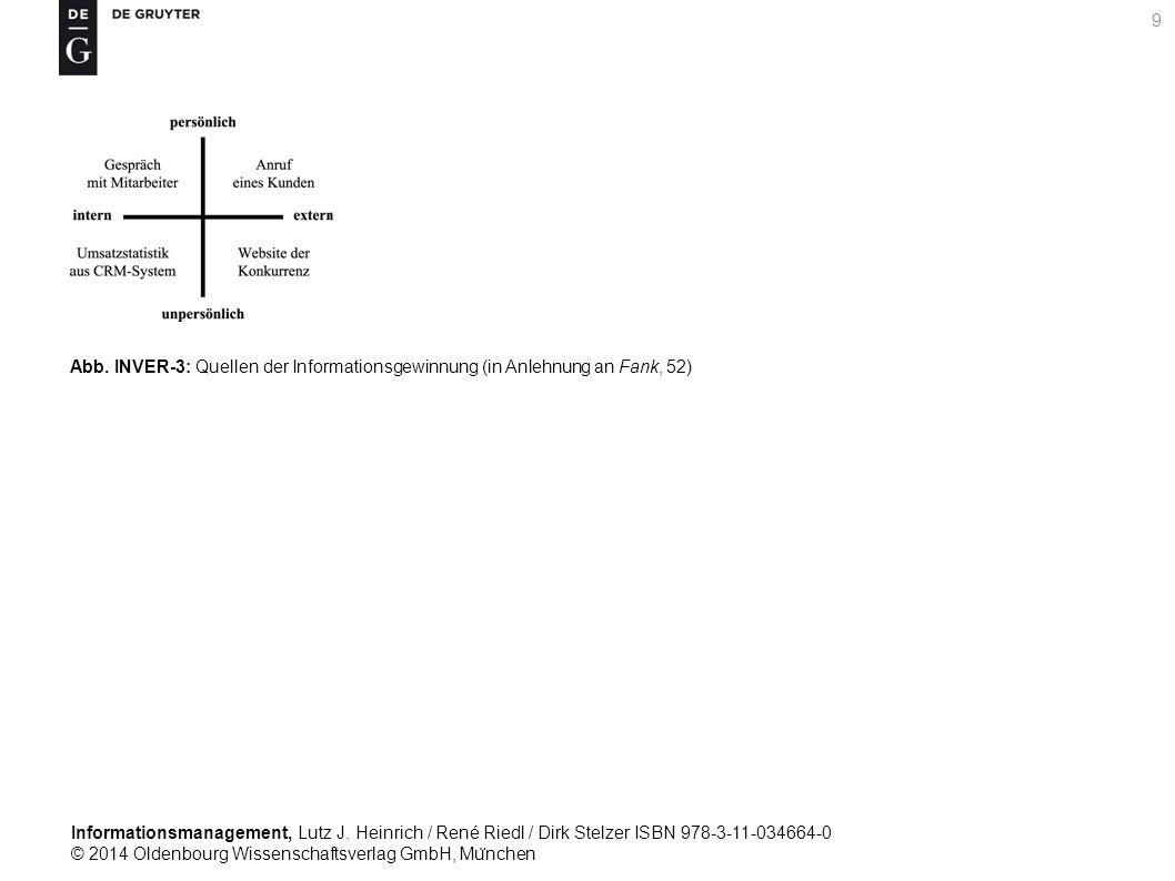 Informationsmanagement, Lutz J. Heinrich / René Riedl / Dirk Stelzer ISBN 978-3-11-034664-0 © 2014 Oldenbourg Wissenschaftsverlag GmbH, Mu ̈ nchen 9 A