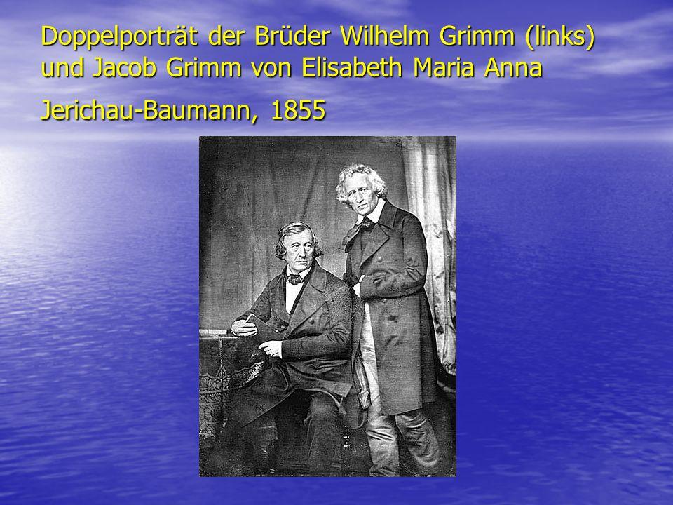 Doppelporträt der Brüder Wilhelm Grimm (links) und Jacob Grimm von Elisabeth Maria Anna Jerichau-Baumann, 1855