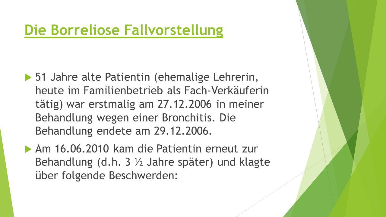 Krankheitsverlauf –Therapie Prognose:  Ab 16.06.10 war Frau W.