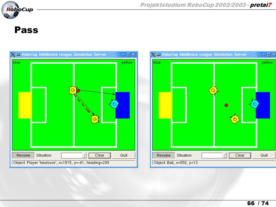 Projektstudium RoboCup 2002/2003 - protai7 66 / 74 Pass