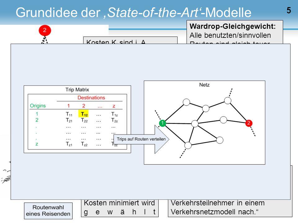 """5 Schnabel/Lohse: """"Verkehrsumlegungsmodelle bilden die Wegewahl (Routenwahl) der Verkehrsteilnehmer in einem Verkehrsnetzmodell nach."""" Modellannahme:"""