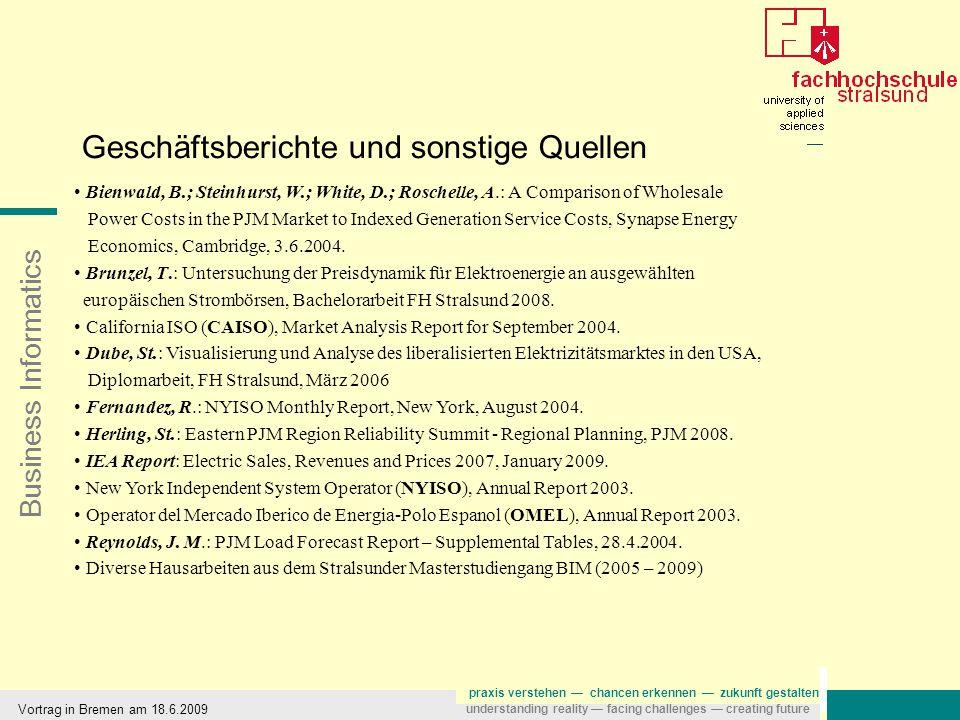 Business Informatics praxis verstehen — chancen erkennen — zukunft gestalten understanding reality — facing challenges — creating future Vortrag in Bremen am 18.6.2009 Kointegrationsmodell