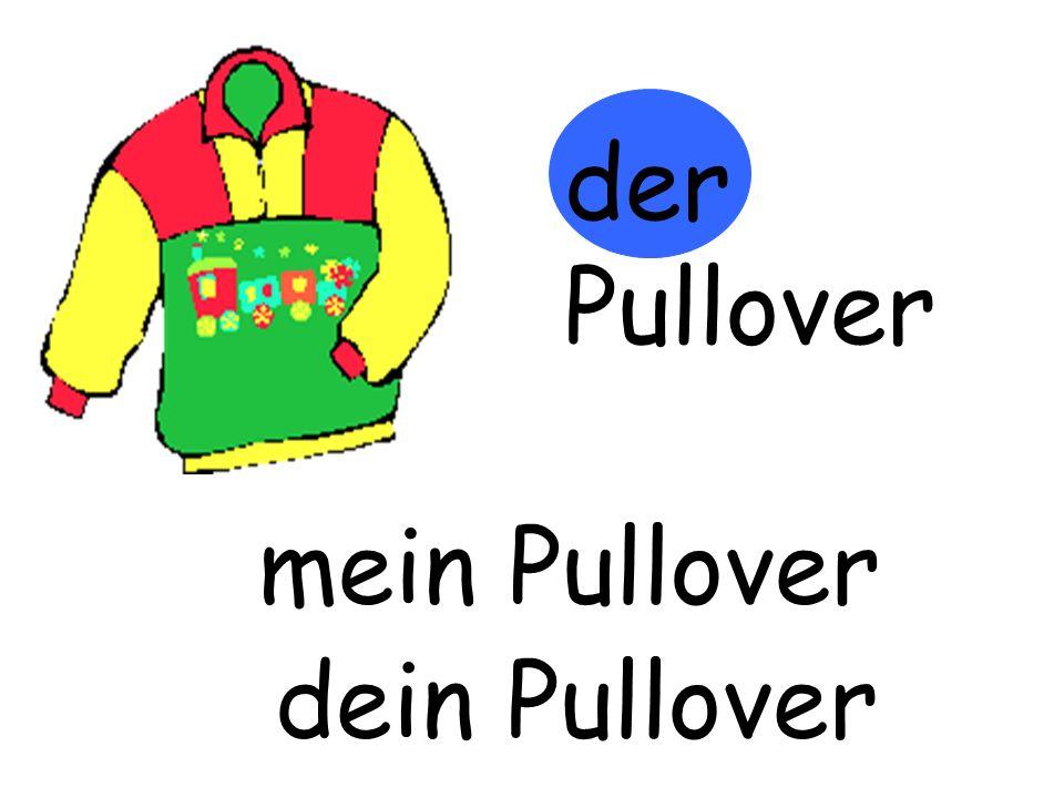 der Pullover m…… Pullover mein Pullover d…… Pullover dein Pullover