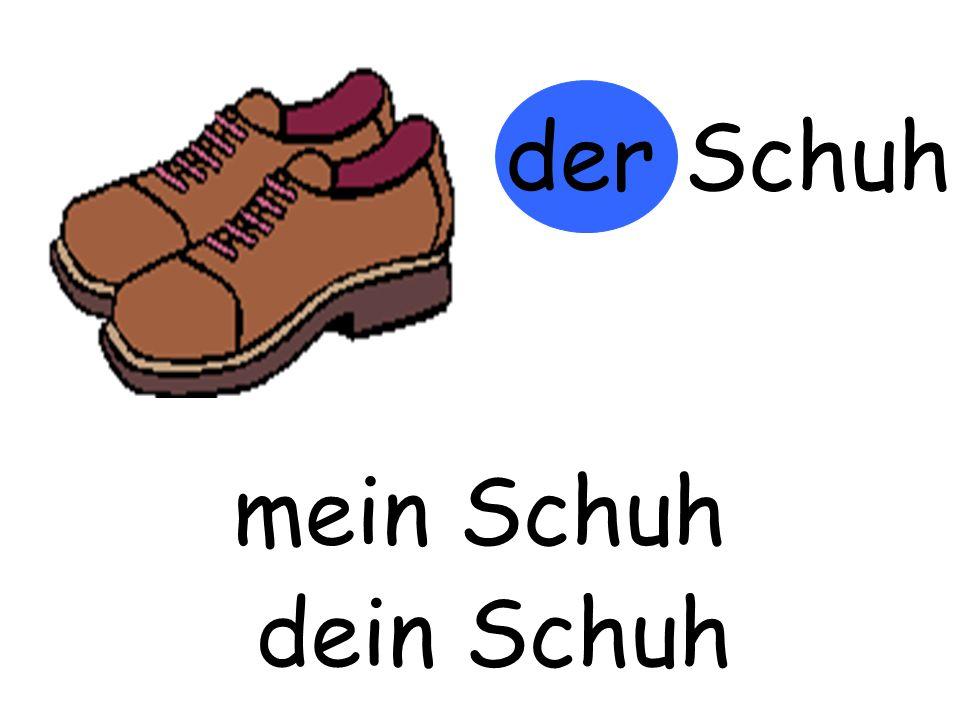 der Schuh m…… Schuh mein Schuh d…… Schuh dein Schuh