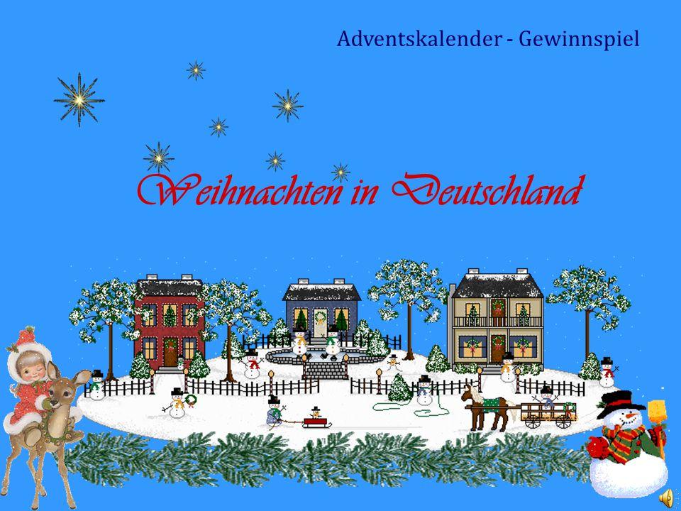 Weihnachten in Deutschland Adventskalender - Gewinnspiel